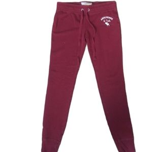 A&F BURGUNDY JOGGERS SIZE SMALL
